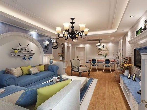 地中海风格-123平米四居室-装修样板间