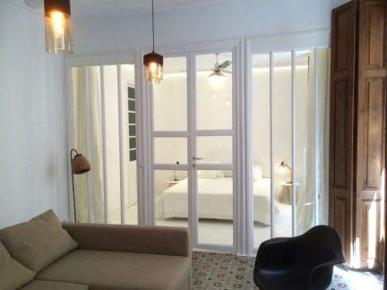 通透明亮简约风格卧室隔断设计效果图