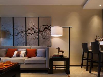 中式古典-120平米三居室装修样板间