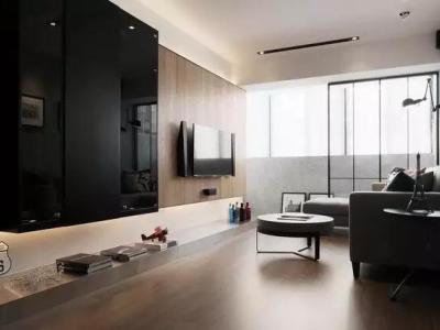 欧美风情-122.28平米三居室装修样板间