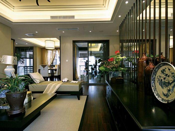 中式古典-0平米三居室-装修样板间