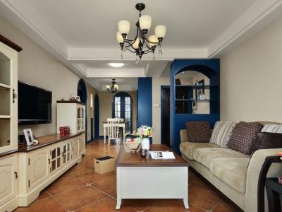 地中海风格-89平米二居室装修样板间