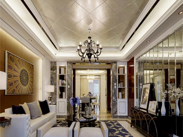 西式古典-110.5平米三居室-装修样板间