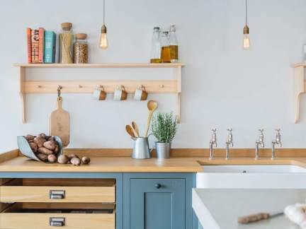 文艺清新北欧风格厨房装修实景图
