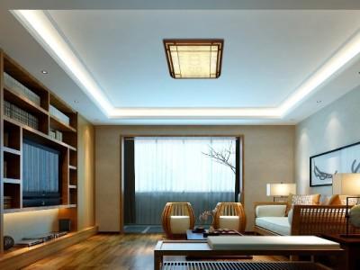 东南亚风格-109平米四居室装修样板间
