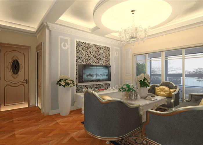 新古典风格-90平米二居室-装修样板间