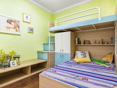 现代简约-93平米二居室装修样板间