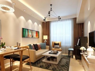 现代简约-80平米一居室装修样板间