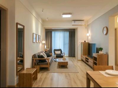 日韩风格-122.04平米三居室装修样板间