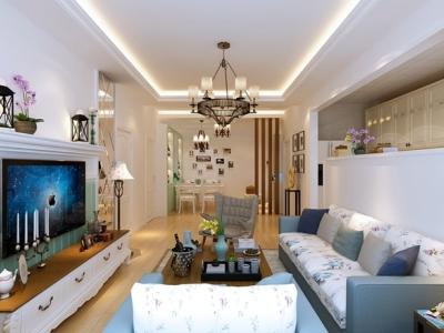 日韩风格-90平米二居室装修样板间