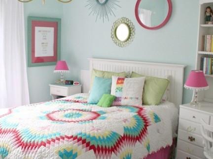 可爱田园风格儿童房白色床头柜设计