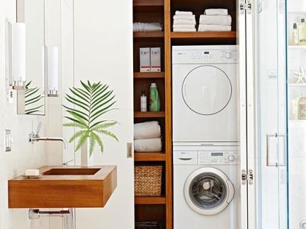 热带别墅洗衣房储物柜装修设计