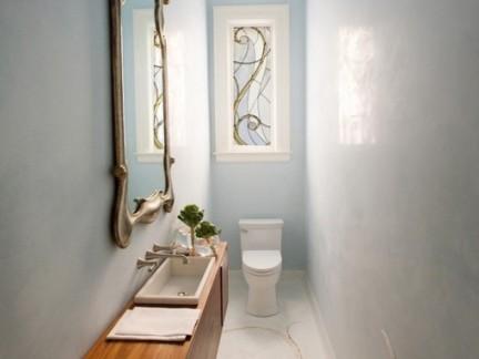 简欧风格设计卫生间原木色梳妆台装修效果图