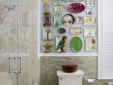 现代卫生间白色马桶照片墙图片欣赏