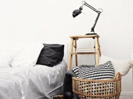 简洁创意北欧风格卧室黑色台灯图片大全