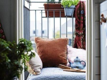 北欧简约风格小阳台蓝色床装修效果图