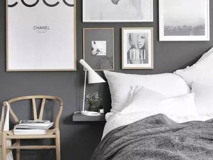 简约风格卧室照片墙案例欣赏