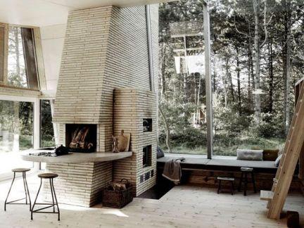 中式风格客厅配米色吧台装修效果图