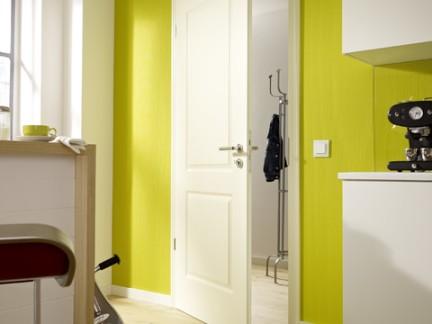 简约风格室内设计玄关处白色橱柜装修效果图