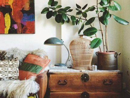 韩式复古客厅配原木色沙发装修效果图
