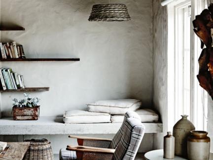 灰色格调东南亚客厅室内装修设计