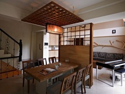 日韩风格餐厅隔断装修设计