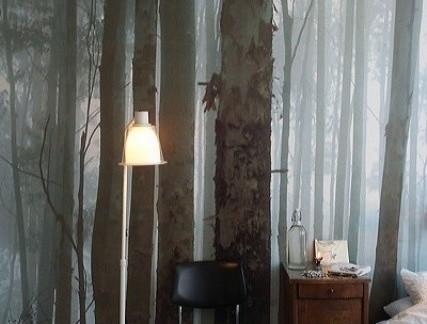 田园风格卧室咖啡色床头柜效果图