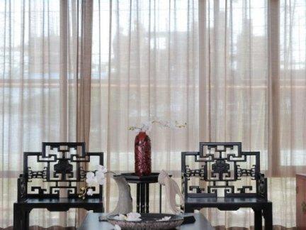 中式古典客厅实木家具装修设计
