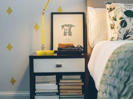清新明媚韩式风格卧室黄色台灯设计图