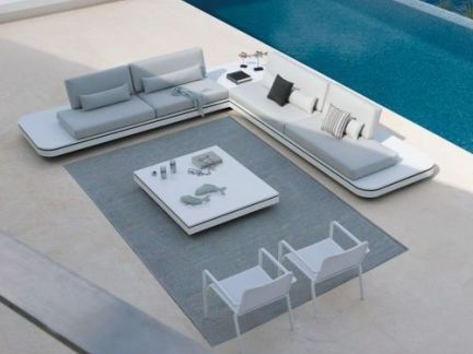 现代简约风格阳台灰色沙发装修设计图
