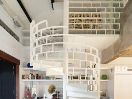 创意设计室内旋转楼梯装修效果图