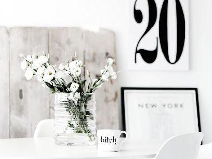 室内简约餐厅配白色餐桌装修效果图