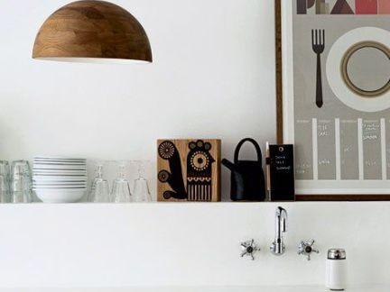 清新北欧厨房白色橱柜门图片欣赏