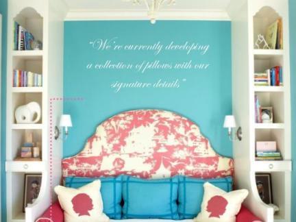 简约小清新儿童房配白色床装修效果图