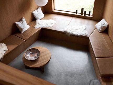 田园风格卧室原木色沙发实景图