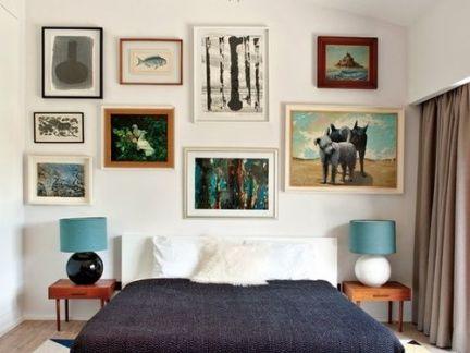 靓丽多彩现代卧室照片墙效果图