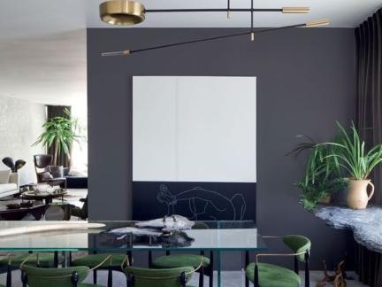 简约风格餐厅灰色背景墙效果图