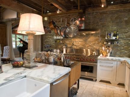 宁静优雅美式风格厨房原木色吊顶效果图大全