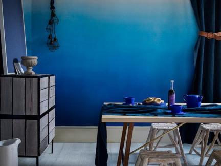 地中海风格餐厅背景墙装修设计