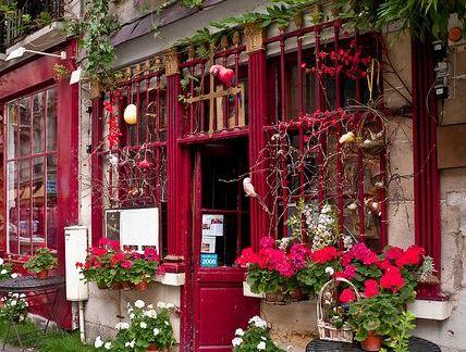 唯美咖啡屋门面设计室外实景图