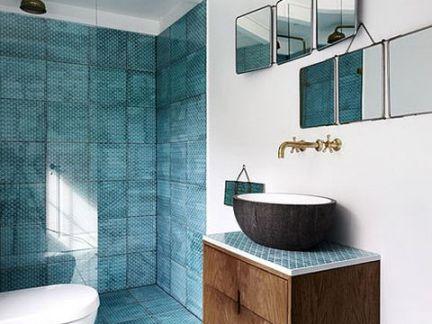 清新地中海风情卫生间洗手台装修设计
