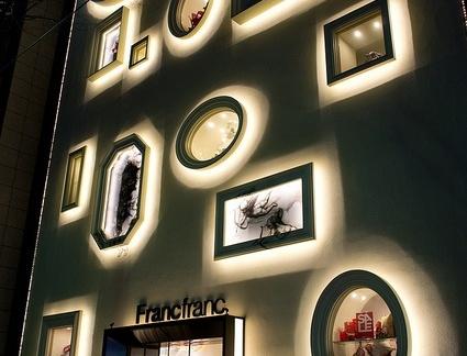 国外大型商铺室外灯光设计效果图