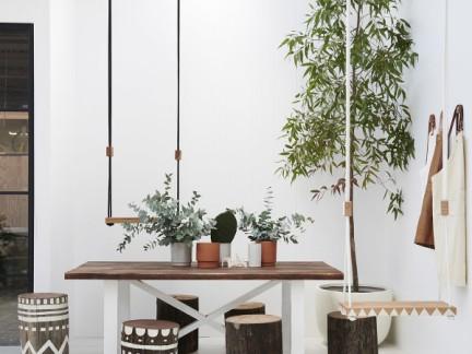 北欧风情餐厅木制家具装修设计