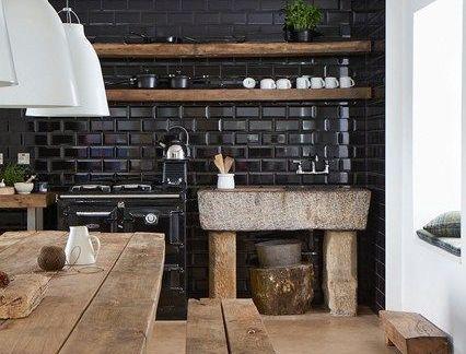 后现代餐厅实木餐桌装修设计