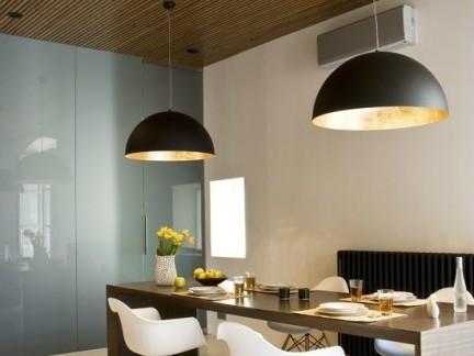 现代餐厅木制吊顶装修设计