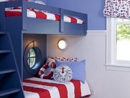 创意地中海儿童房上下床装修设计
