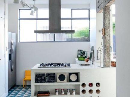 厨房工业白色吊顶设计图