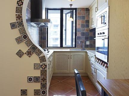 欧式别墅厨房设计白色橱柜装修效果图