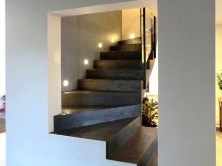 简约风格客厅黑白色系楼梯装修设计图