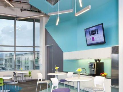 地中海风格客厅蓝色背景墙效果图